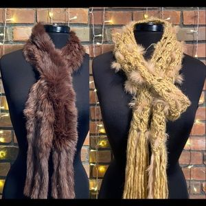 Faux Rabbit Fur Very Soft Scarves Warm and Fuzzy